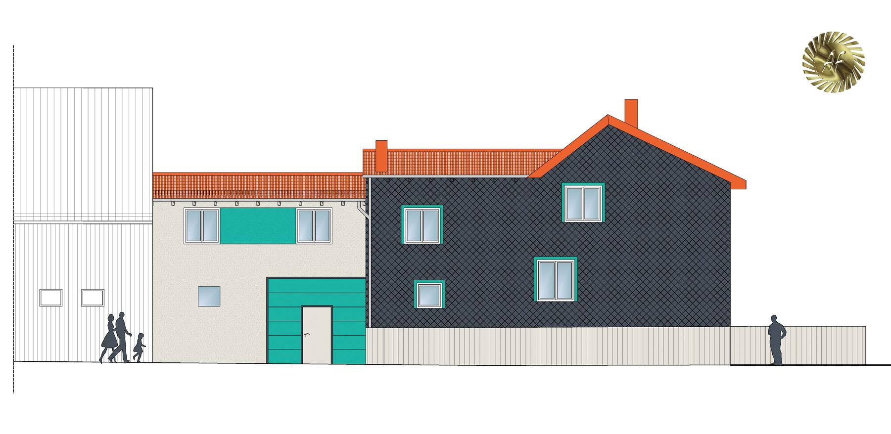 Erweiterungsbau eines Mehrfamilienwohnhauses / Wölfis